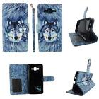 Flip Wallet Leather Case For Samsung Galaxy On5 w Cover Cash id Slots Stand