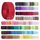 DIY Wholesale Polyester Grosgrain Ribbon Craft Wedding Decorating 40 Colors