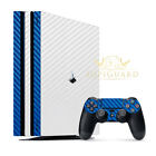SopiGuard Carbon Fiber Two Tone Skin Full Body for Sony PS4 Pro PlayStation 4