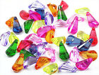 Mix Colors Faceted Acrylic Drop Beads
