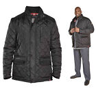 Mens D555 Padded Corduroy Quilted Fleece Winter Coat Jacket Black S M L XL XXL