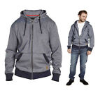 Mens D555 Zip Hoodie Hooded Jacket Denim Blue S M L XL XXL