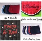 FULL Personalised Embroidery Numnah Saddle Cloth Design Stars or Hearts 2 Sides