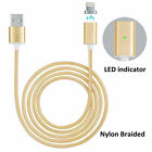 Magnetic Braided USB Lightning Charging Charger Cable For Apple iPhone Samsung
