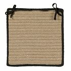 Boat House Indoor Outdoor Braided Square Chair Pad, Tan with Black Border