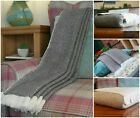 Authentic Soft Cashmere Throws/Blankets Bed Sofa Herringbone