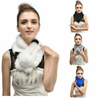 Women Girls Real Rex Rabbit Fur Scarf Wraps Winter Shawl Warm Fashion 6 Colors