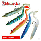 Sidewinder Super Solid / Holo Sandeels - Cod Bass Wrasse Ling Sea Fishing Lures