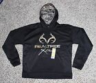 NEW Youth REALTREE Xtra Black Camo Hoodie Boy's Sizes S M L XL Hooded Sweatshirt