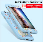 Full Body Cover Cases + Luxury Clear Glass Screen Protector For iPhone 6 7 Plus