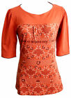 Blutsgeschwister Shirt Bon Appetite Gr. M L XL orange Retro Print 3/4 Arm V287