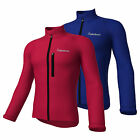 Mens Waterproof Cycling SoftShell Jackets Full Sleeve Windproof Jersey Bike Race