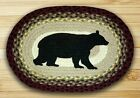 Cabin Bear Oval Braided Jute Placemat, #48-395CB