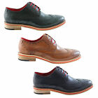 Justin Reece Mens Leather Dover Brogues Brogue Shoes Brown Various Sizes