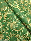 JENA CHRISTMAS GREEN SILK TABLE COVER / TABLECLOTH HOLLY AND IVY, 120x120cm