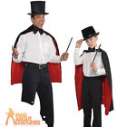 Deluxe Magician Cape Wizard Vampire Cloak Adult or Child One Size Fancy Dress