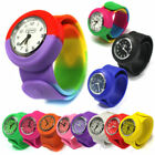 5 Colors Children Unisex Rubber Jelly Slap Wrist Watch For Boys Girls Kids Gift