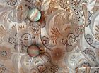BOYS PEACH PAISLEY MARCELLA/FRONT ONLY/BACKLESS WAISTCOAT WEDDING/PARTY/PROM