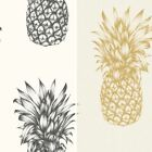 Arthouse Copacabana Pineapple Pattern Wallpaper Tropical Fruit Metallic Motif