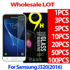 9H Tempered Glass Screen Protector Film For Samsung Galaxy Amp Prime J3 2016 LOT
