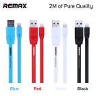 2m REMAX Fast Charge Lightning Cable for iPhone 6 7 iPad Mini - High Quality