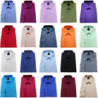 Men's Plain Shirt Cotton Rich Easy Care Classic collar Formal Casual Long sleeve