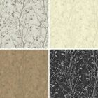 Arthouse Bosco Floral Leaf Pattern Wallpaper Vintage Metallic Glitter Vinyl Roll
