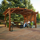 The Outdoor GreatRoom Co Privacy Wall for 12'x12' Sonoma Arched Pergola