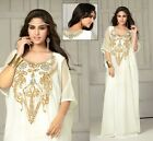 Wedding Women's Dubai Kaftan Caftan Farasha Jalabiya Maxi Dress Bellydance - N18