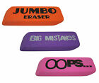 JUMBO ERASER - Extra Large Giant Size Huge Pencil Rubber - BIG MISTAKES - OOPS