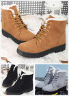 *US SHIP* Women Winter Warm Flat Lace Up Martin Boots Snow Ankle Boots Shoes
