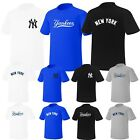 Newyork NY Yankees Mens Womens Crewneck Baseball Tshirts Jersey Casual Top TeeAD