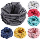 Внешний вид - Children Warm Cotton Scarf Girl Scarf Shawl Winter Neckerchief Neck Ring BU