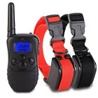 Dog Training Collar Remote Rechargeable Waterproof LCD Screen 7 Style