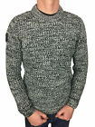 Mens Medium Superdry Nordic Depth Crew Neck Jumper in White/Black Twist