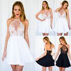 NEW Summer Women Casual Sleeveless Cocktail Party Evening Lace Short Mini Dress