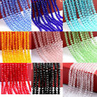 New 4MM/6MM/8MM/10MM Faceted Rondelle glass Crystal Beads Pick Colors