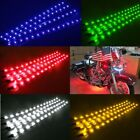6x Waterproof 12'' 15 DC 12V Motor LED Strip Underbody Light For Car Motorcycle