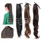 Long Lady Girl Straight Curly Wavy Ponytail Pony Wigs Hair Hairpiece Extension