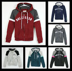 New Hollister by Abercrombie Women Logo Graphic Fleece Hoodie Sweat Shirt Size