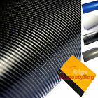 4D & 3D CARBON FIBRE Vinyl Wrap Sticker Decal RC Car bonnet roof + FREE SQUEEGEE