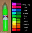 Paint Pen Fluorescent Ultraviolet Blacklight UV Reactive glowing. 10 colours