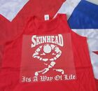 SKINHEAD SITTING ITS A WAY OF LIFE T SHIRT VEST RED