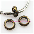 20Pcs Tibetan Silver Gold Bronze Tone Round Spacer Beads Charms 11mm