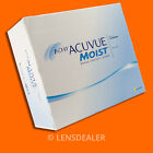 •• 1 Day Acuvue Moist 180er Box Johnson Kontaktlinsen Tageslinsen -/+ Werte ••