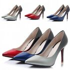New Patent Leather Pointed Toe Party Pumps Women Slim High Shoes