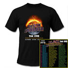 BLACK SABBATH THE END TOUR 2016 USA Rock band concert date Mens Black T-Shirt image