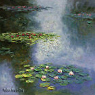 Handmade Impression of thick Oil Painting Art repro Water Lilies on Canvas Wat06