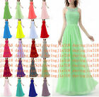 MINT Chiffon Formal Evening Bridesmaid Dresses Party Ball Prom Gown Dress 6-20