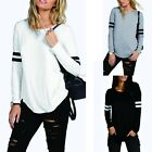New Fashion Womens Ladies Casual Loose Tops Long Sleeve T-Shirt Summer CYBD
